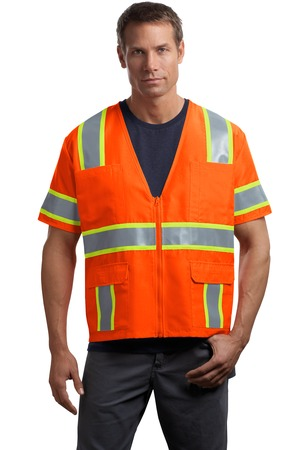CornerStone – ANSI 107 Class 3 Dual-Color Safety Vest Style CSV406 Orange Yellow