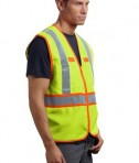 CornerStone - ANSI 107 Class 2 Dual-Color Safety Vest Style CSV407 Safety Yellow Angle