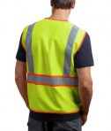 CornerStone - ANSI 107 Class 2 Dual-Color Safety Vest Style CSV407 Safety Yellow Back