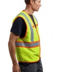 CornerStone - ANSI 107 Class 2 Dual-Color Safety Vest Style CSV407 Safety Yellow Side