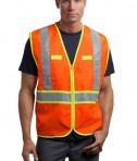 CornerStone - ANSI 107 Class 2 Dual-Color Safety Vest Style CSV407 Safety Orange