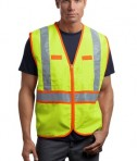 CornerStone - ANSI 107 Class 2 Dual-Color Safety Vest Style CSV407 Safety Yellow