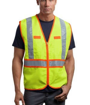CornerStone – ANSI 107 Class 2 Dual-Color Safety Vest Style CSV407 Safety Yellow