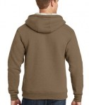 CornerStone Heavyweight Sherpa-Lined Hooded Fleece Jacket Brown Back