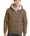 CornerStone Heavyweight Sherpa-Lined Hooded Fleece Jacket Brown Front