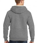CornerStone Heavyweight Sherpa-Lined Hooded Fleece Jacket Grey Back