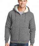 CornerStone Heavyweight Sherpa-Lined Hooded Fleece Jacket Grey Front