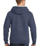 CornerStone Heavyweight Sherpa-Lined Hooded Fleece Jacket Navy Back