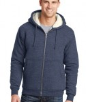 CornerStone Heavyweight Sherpa-Lined Hooded Fleece Jacket Navy Front
