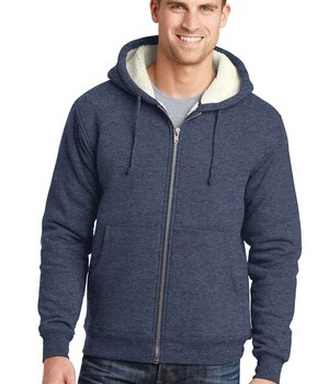 cornerstone-heavyweight-sherpa-lined-hooded-fleece-jacket-navy-front