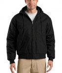 CornerStone - Duck Cloth Hooded Work Jacket Style J763H Black