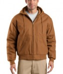 CornerStone - Duck Cloth Hooded Work Jacket Style J763H Duck Brown
