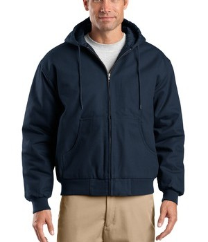 CornerStone – Duck Cloth Hooded Work Jacket Style J763H Navy