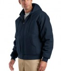 CornerStone - Duck Cloth Hooded Work Jacket Style J763H Navy Angle