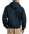 CornerStone - Duck Cloth Hooded Work Jacket Style J763H Navy Back