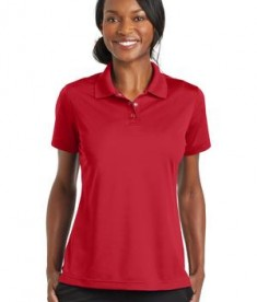 CornerStone Ladies Micropique Gripper Polo Shirts True Red Front