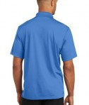 CornerStone Micropique Gripper Polo T-Shirts Blue Lake Back
