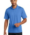 CornerStone Micropique Gripper Polo T-Shirts Blue Lake Front