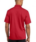 CornerStone Micropique Gripper Polo T-Shirts True Red Back
