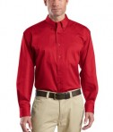 CornerStone - Long Sleeve SuperPro Twill Shirt Style SP17 Red