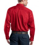 CornerStone - Long Sleeve SuperPro Twill Shirt Style SP17 Red Back
