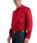 CornerStone - Long Sleeve SuperPro Twill Shirt Style SP17 Red Side