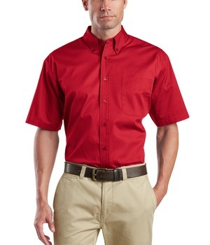 CornerStone – Short Sleeve SuperPro Twill Shirt Style SP18 Red