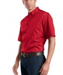 CornerStone - Short Sleeve SuperPro Twill Shirt Style SP18 Red Side