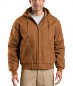 CornerStone TLJ763H Duck Cloth Hooded Work Jacket Tall