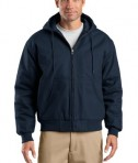 CornerStone TLJ763H Duck Cloth Hooded Work Jacket Tall Navy