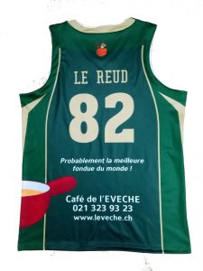 dark green with white and red basketball jersey-back