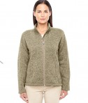 Devon & Jones Ladies' Bristol Full-Zip Sweater Fleece Jacket Khaki Heather