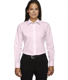 Devon & Jones Ladies' Crown Collection™ Banker Stripe Pink