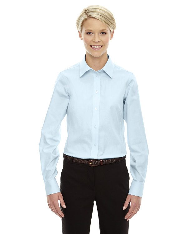 Devon & Jones Ladies' Crown Collection™ Solid Oxford Crystal Blue