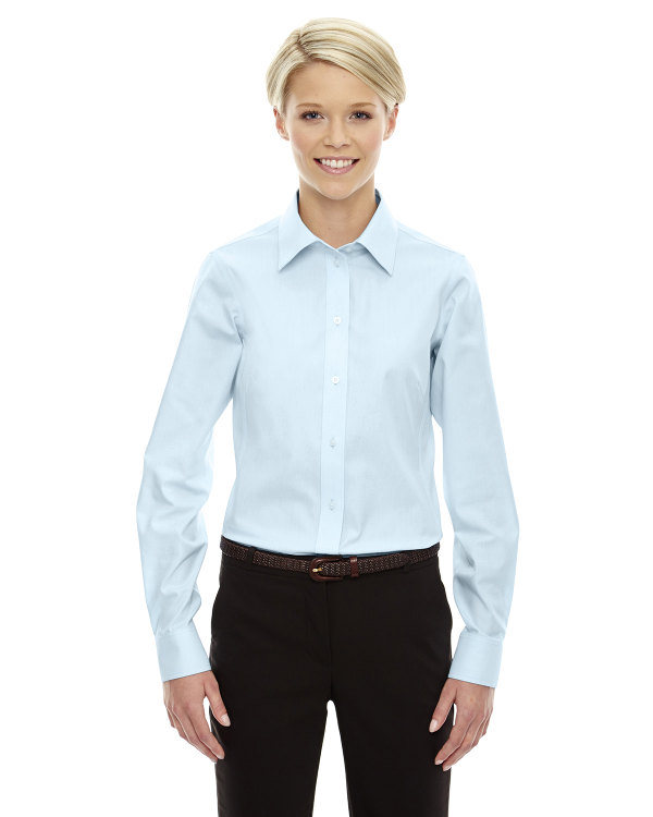 devon-&-jones-ladies-crown-collection™-solid-oxford-transprnt-crystal-blue
