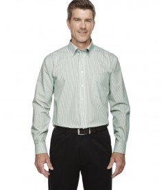Devon & Jones Men's Crown Collection™ Banker Stripe Dill