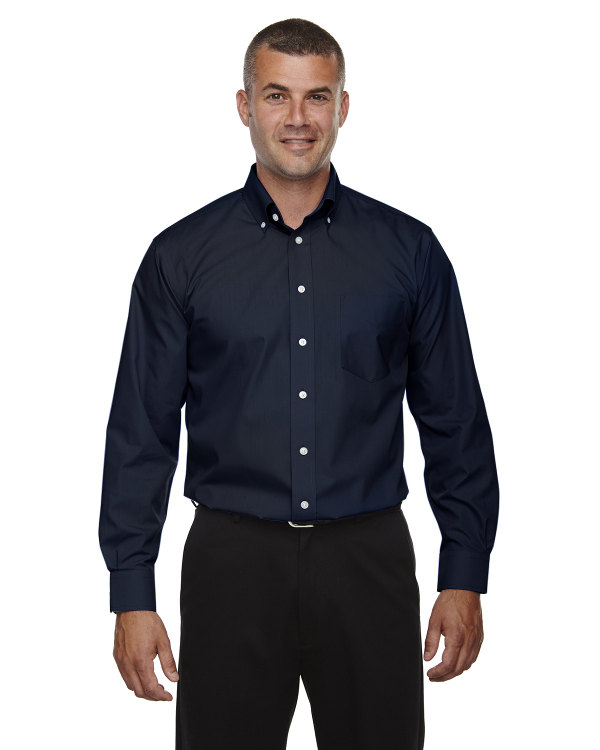 devon-&-jones-mens-tall-crown-collection™-solid-long-sleeve-broadcloth-navy