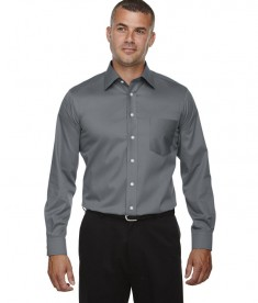 Devon & Jones Men's Tall Crown Collection™ Solid Long-Sleeve Stretch Twill Graphite