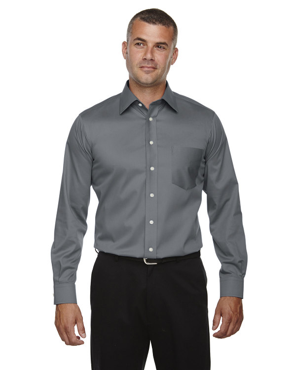 devon-&-jones-mens-tall-crown-collection™-solid-long-sleeve-stretch-twill-graphite
