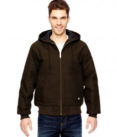 Dickies 10 oz. Hooded Duck Jacket Chocolate Brown