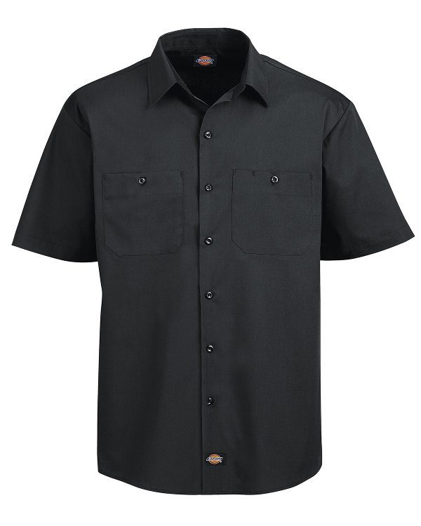 Dickies 4.25 oz. WorkTech with AeroCool Mesh Premium Performance Work Shirt Black