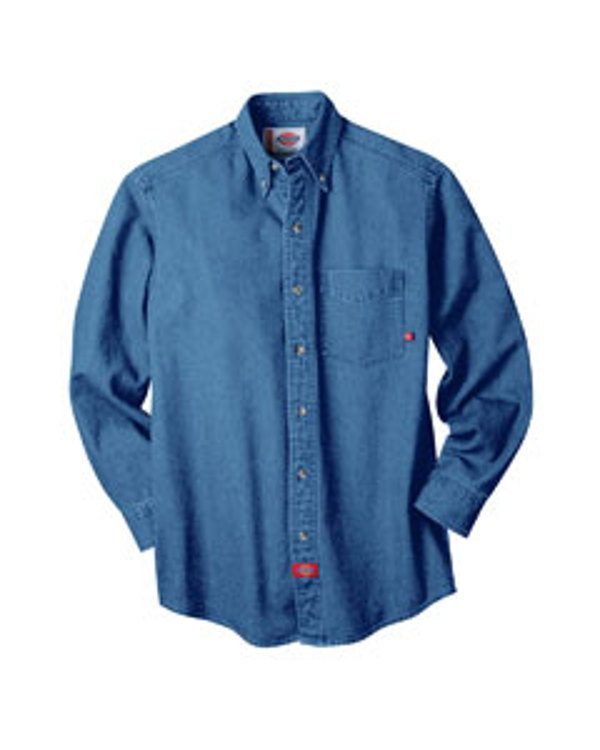 Dickies 8 OZ DENIM LONG SLEEVE SHIRT Stonewash Indigo
