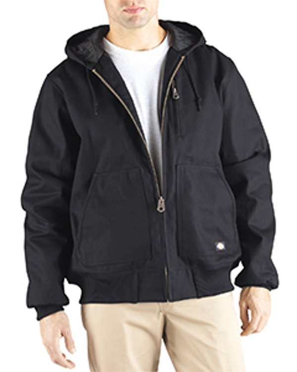 Dickies Drop Ship 10 oz. Rigid Duck Hooded Jacket Black