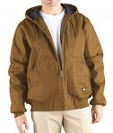 Dickies Drop Ship 10 oz. Rigid Duck Hooded Jacket Brown Duck