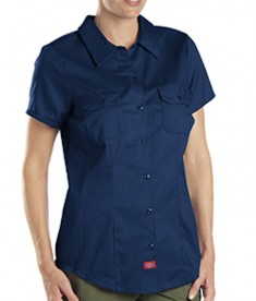 Dickies Drop Ship 5.25 oz. Short-Sleeve Work Shirt Dark Navy