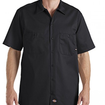 dickies-drop-ship-6-oz-industrial-short-sleeve-cotton-work-shirt-black