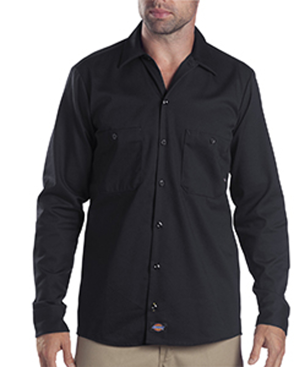 dickies-drop-ship-6-oz-tall-industrial-long-sleeve-cotton-work-shirt-black
