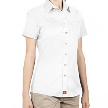 dickies-drop-ship-ladies-short-sleeve-button-down-shirt-white