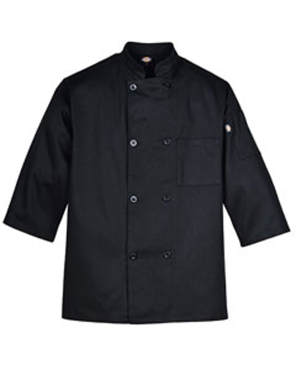 dickies-drop-ship-long-sleeve-8-button-chef-coat-black