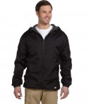 33237 Dickies Fleece-Lined Hooded Nylon Jacket Black